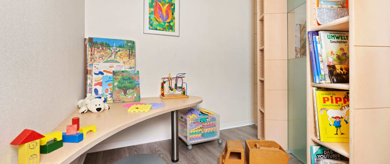 Spielzimmer in der Gemeinschaftspraxis für Frauenheilkunde und Geburtshilfe in Böblingen
