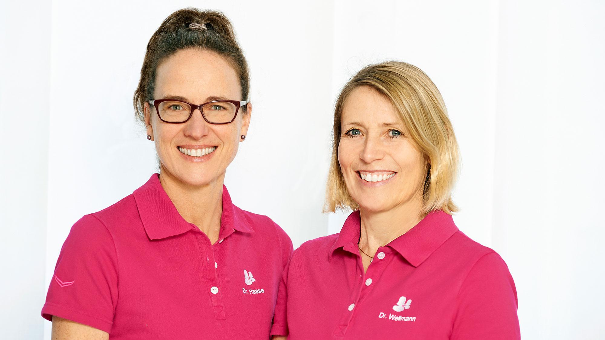 Die Frauenärztinnen Dr. med. Eva Wellmann und Dr. med. Sibylle Haase