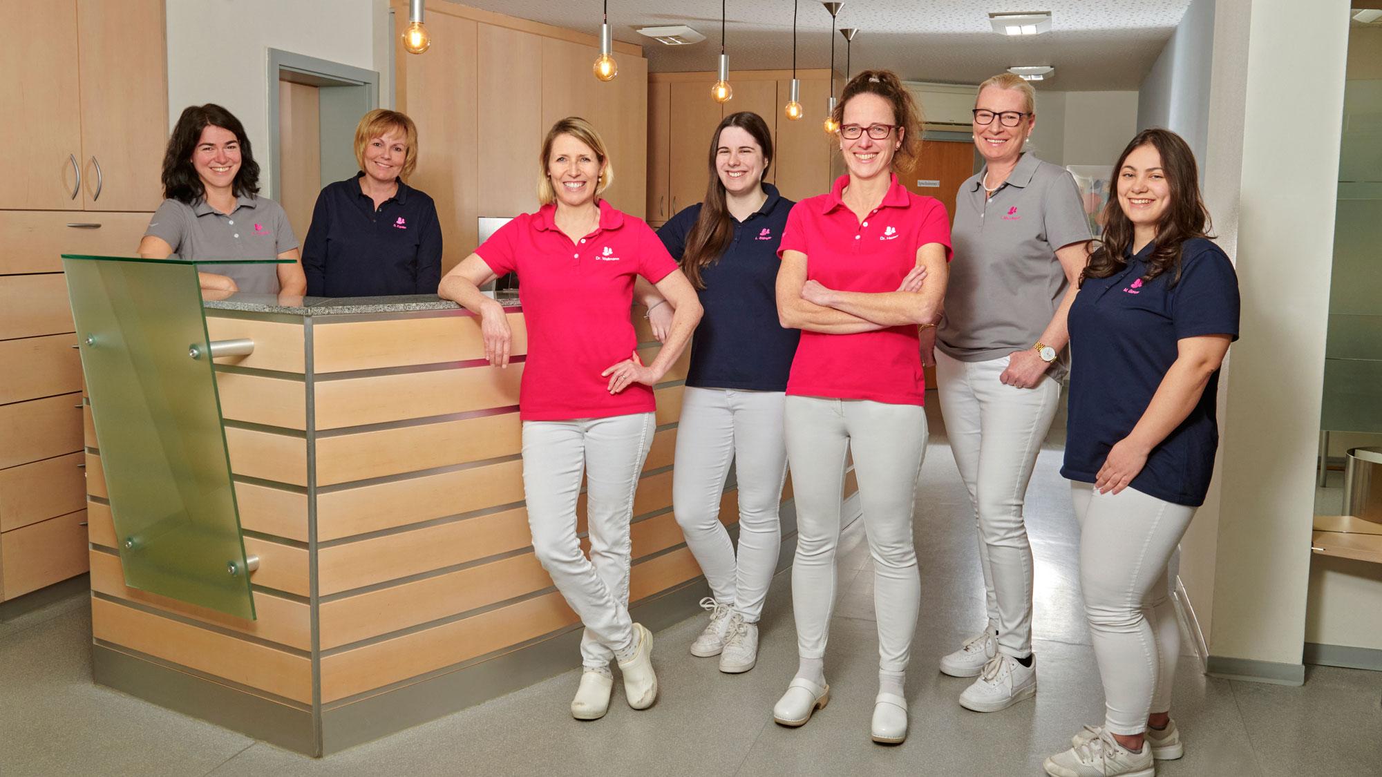 Praxisteam der Gemeinschaftspraxis für Frauenheilkunde und Geburtshilfe in Böblingen